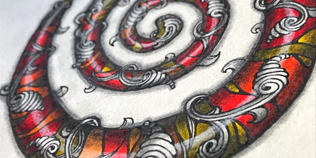 STAINED GLASS  Organic Spiral