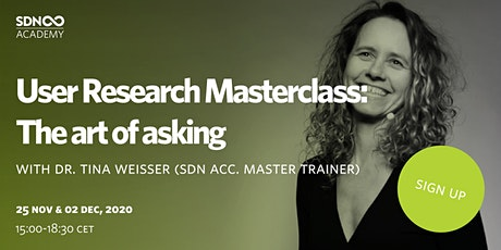 User Research Masterclass -The art of asking tickets