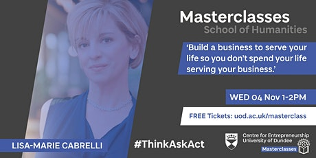 Entrepreneurial Masterclass with Lisa-Marie Cabrelli