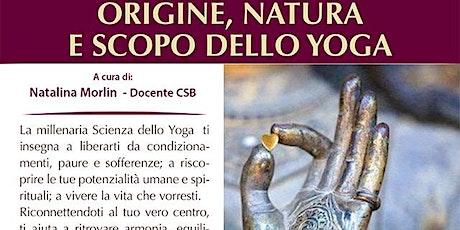 Origine, natura e scopo dello yoga biglietti