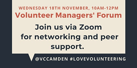 November 2020 Online Volunteer Managers' Forum tickets