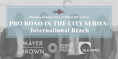 Pro Bono in the City: International Reach | KCL Pro Bono Society tickets
