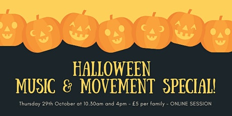 Halloween Music & Movement Special (ONLINE) tickets