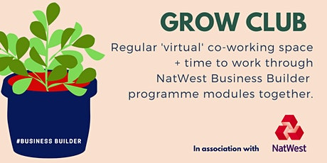 Grow Club - a 'virtual' co-working space + NatWest Business Builder support tickets