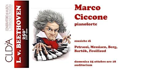 Marco Ciccone, pianoforte biglietti
