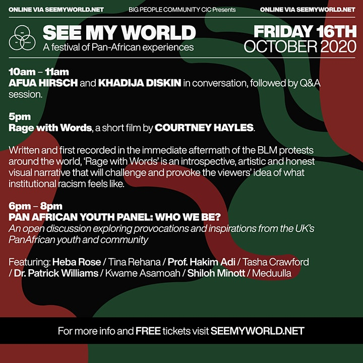 SEE MY WORLD Pan-African Youth  Panel : WHO WE BE? image