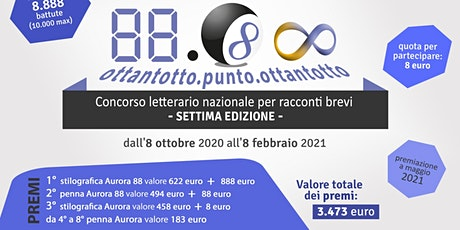 CONCORSO 88.88 Settima Edizione - scadenza 8 febbraio 2021 biglietti
