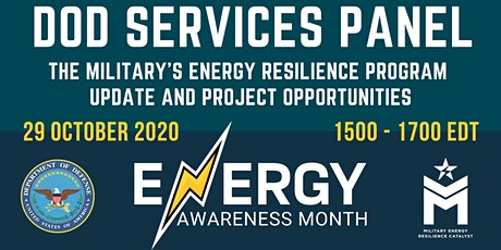 Energy Awareness Month – DoD Services Panel tickets