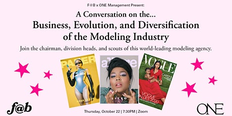 F@B x ONE: Business, Evolution & Diversification of the Modeling Industry tickets