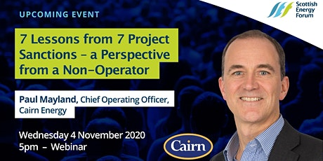 "4Nov: 7 Lessons from 7 Project Sanctions – a Non-Operator Perspective"" tickets"