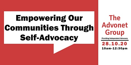 Empowering Our Communities Through Self-Advocacy tickets