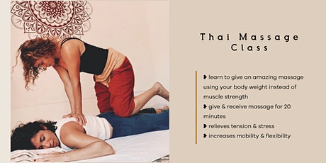 Thai Yoga Massage Class tickets