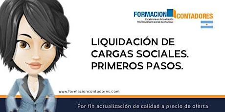 Liquidación de Cargas Sociales. Primeros pasos. entradas