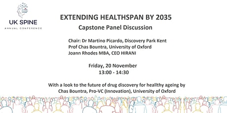 UK SPINE Virtual Conference 2020 Panel Discussion: Healthy Ageing by 2035 tickets