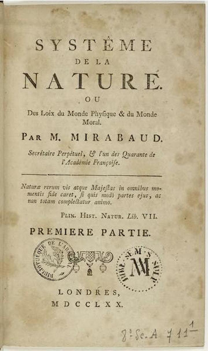 Voltaire Foundation: 250th Anniversary of d'Holbach's Système de la Nature image