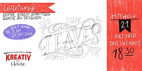 Handletteringkurs - lerne zu designen - Live Onlinekurs - Kreativ zu Hause Tickets