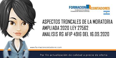 GRABACION -  ASPECTOS TRONCALES DE LA MORATORIA AMPLIADA 2020- LEY 27562 entradas