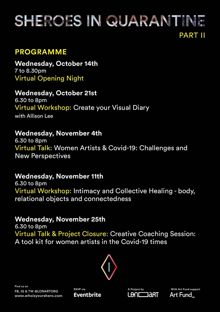 Sheroes Talk - WOMEN ARTISTS AND COVID-19: challenges and new perspectives image