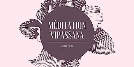Initiation à la Méditation Vipassana Novembre billets