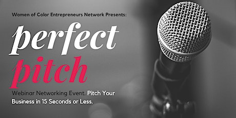 Pitch Your Business in 15-seconds Networking Webinar tickets