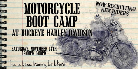Motorcycle Boot Camp tickets
