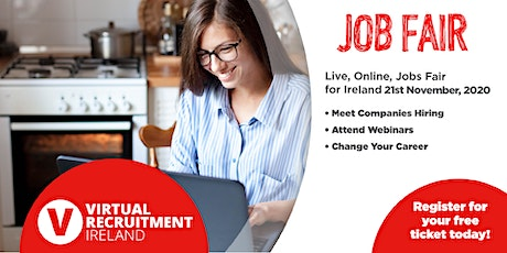 Virtual Recruitment Ireland - Online Jobs Fair (Sat, 21st Nov, 2020) tickets