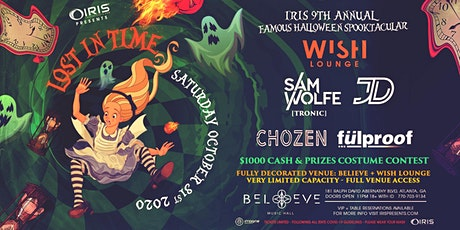 Lost In Time @ Wish IRIS Halloween Spooktacular w/Sam Wolfe, JD, Chozen ++ tickets