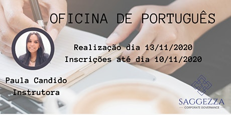 OFICINA DE PORTUGUÊS- ORATÓRIA/LINGUAGEM / REDAÇÃO bilhetes
