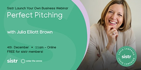Perfect Pitching with Julia Elliott Brown tickets