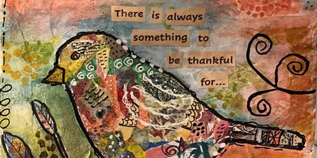 Gratitude Brings Joy Bird Collage tickets