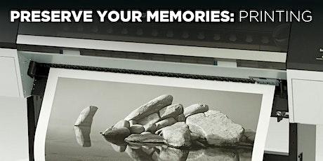 Preserve Your Memories: Printing w/Mat Marrash (In-Person)