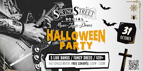 Battle of the Bands // Spring Street Social // Halloween Fancy Dress Party tickets