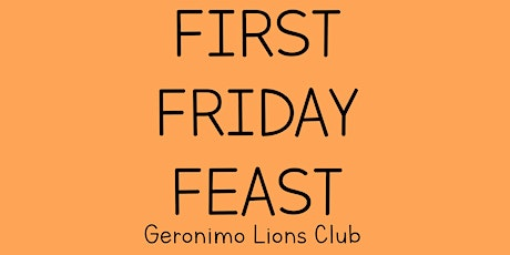 First Friday Feast tickets
