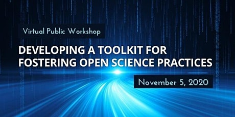 Developing a Toolkit for Fostering Open Science Practices tickets
