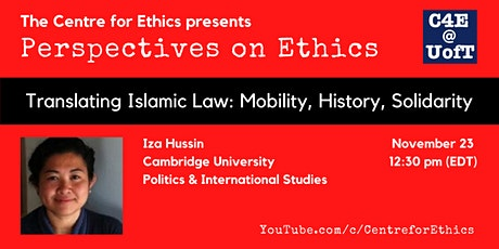 Iza Hussin, Translating Islamic Law: Mobility, History, Solidarity tickets