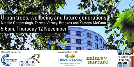 Urban trees, wellbeing and future generations (Reading Climate Festival) tickets