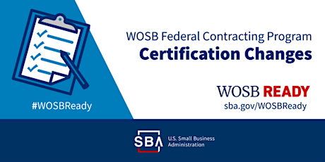 Get WOSB-Ready for the SBA's NEW Woman-Owned Small Business Certification tickets
