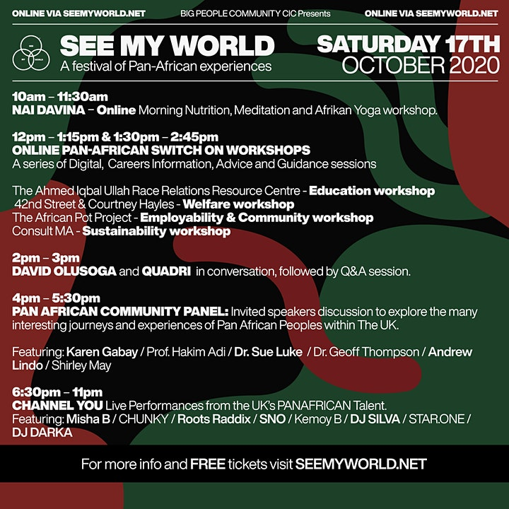 SEE MY WORLD Pan -African Community Panel: WHAT NEEDS TO CHANGE? image