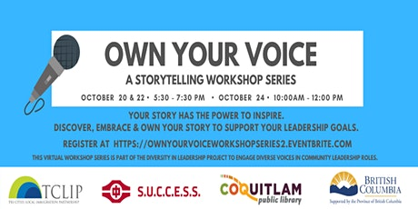 Own Your Voice: A Storytelling Workshop Series  (Week 2) tickets