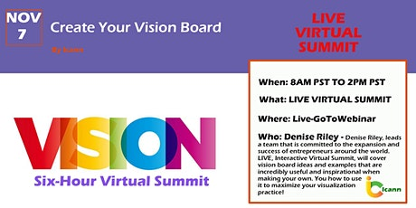 LIVE Virtual Summit - Creating Your Vision Board tickets