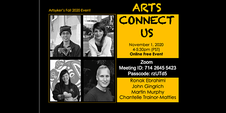 Arts Connect Us - Artsyker's Fall 2020 Event tickets