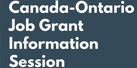 Ontario Jobs Grant Workshop With Andrew Mech of Access Employment tickets