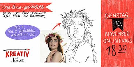 One-Line-Drawings selbst designen Live Onlinekurs - Kreativ zu Hause Tickets