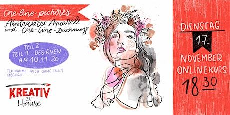 One-Line-Drawings Aquarell - Live Onlinekurs - Kreativ zu Hause Tickets