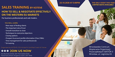 Sales Training by KOTEVE - How to sell effectively  on the EU Markets tickets