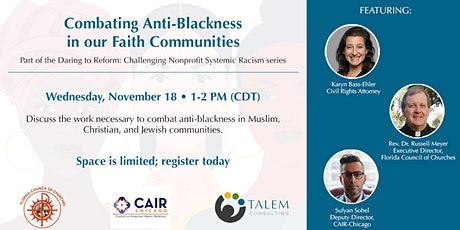 Combating Anti-Blackness in our Faith Communities tickets