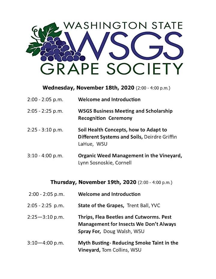 Washington State Grape Society Annual Meeting Webinar image