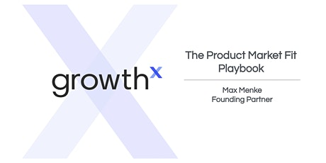 The Product-Market Fit Playbook tickets