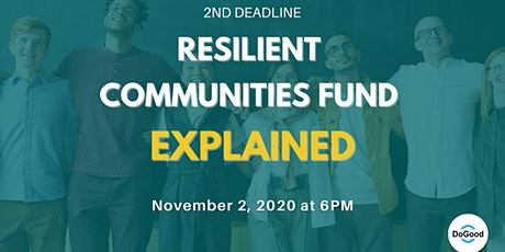 FREE Information Session: Resilient Communities Fund 2nd Deadline Explained tickets