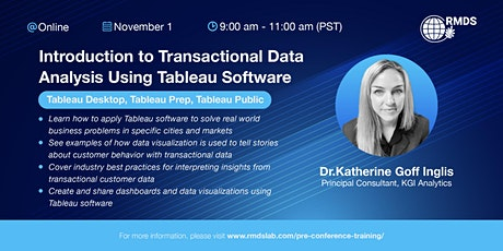 Introduction to Transactional Data Analysis Using Tableau Software tickets